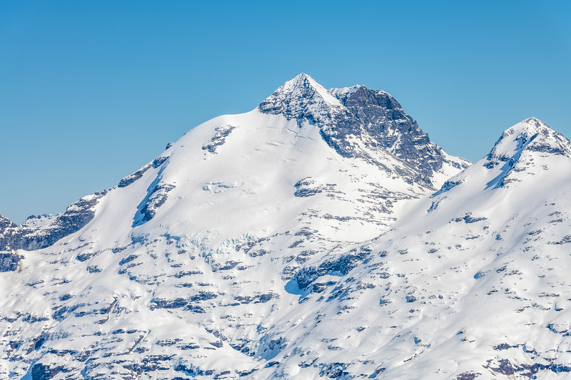 Mount Earnslaw and O'Leary Peak from Cleft Peak.