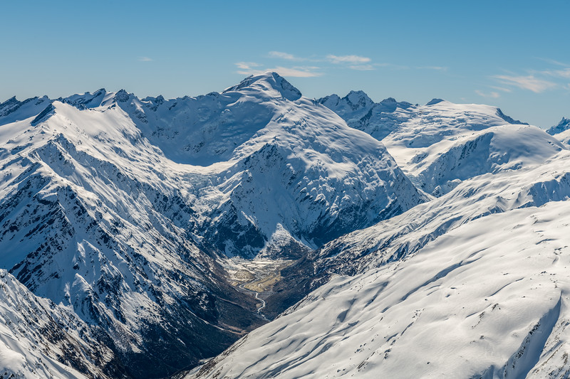 Mount Edward, Mount Maori and Governors Ridge from Cleft Peak