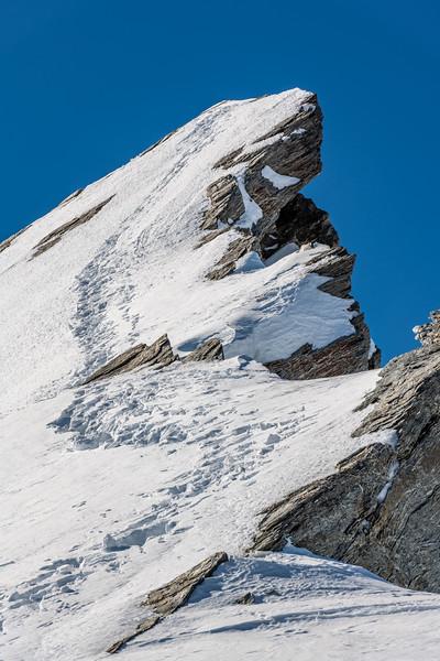 Cleft Peak summit pyramid.