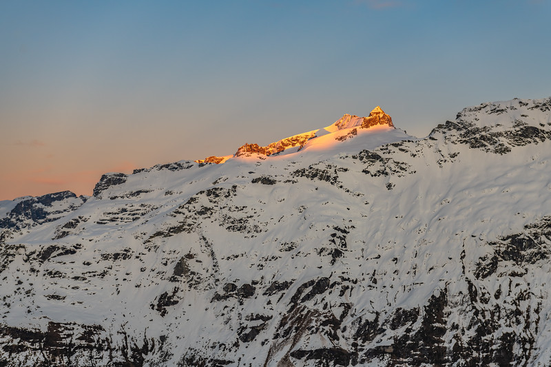 Mount Head and Moira Peak from the slopes of Cleft Peak.