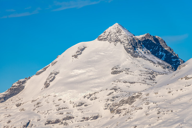 Mount Earnslaw from the slopes of Cleft Peak.