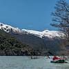 On Dart Lake, looking up to Hedin Peak, Seal Col and Johansen Peak
