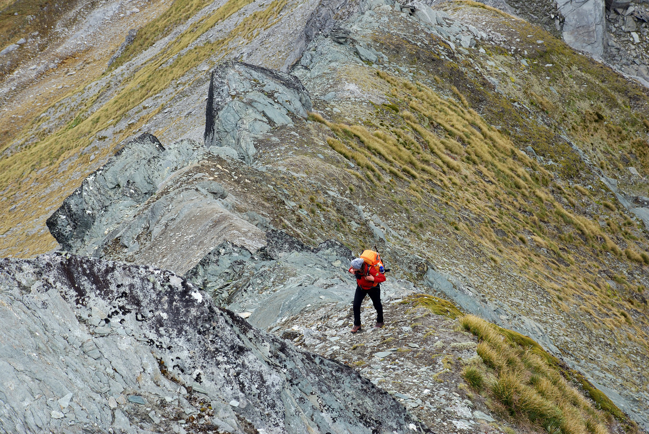 Caroline on the north ridge of Mt Eostre.