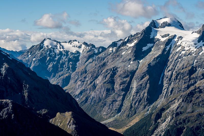 Nereus Peak and Somnus, Humboldt Mountains. The North Routeburn below.