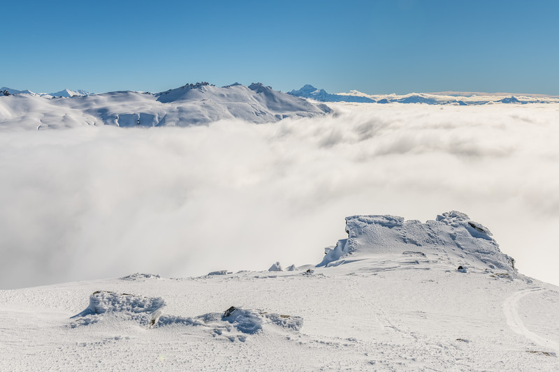 Treble Cone and Mount Aspiring from Pt 1955m