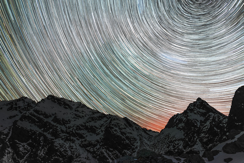 Star Trails over Emily Peak
