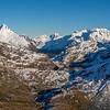 Lake Harris and Darran Mountains (Mount Gifford, Apirana Peak, Mounts Revelation and Tuhawaiki, Mt Te Wera)