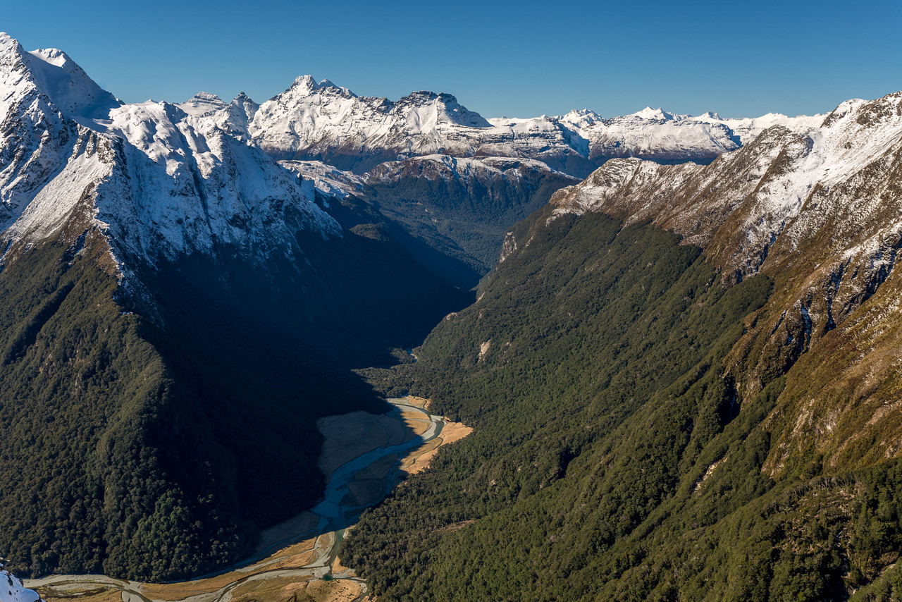 Routeburn Flats and Mount Earnslaw