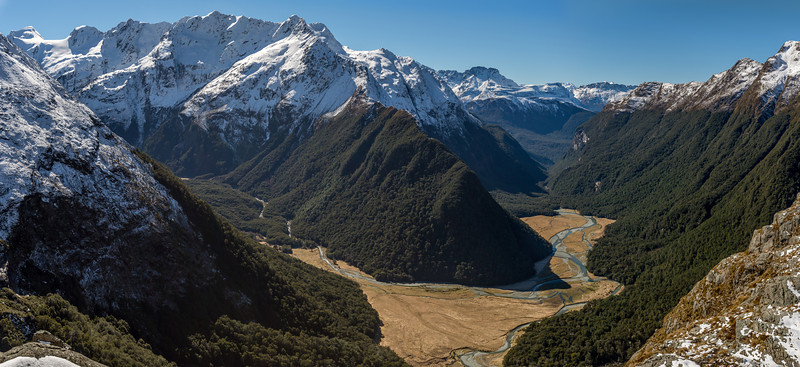 Routeburn Flats, with Somnus and Momus top left