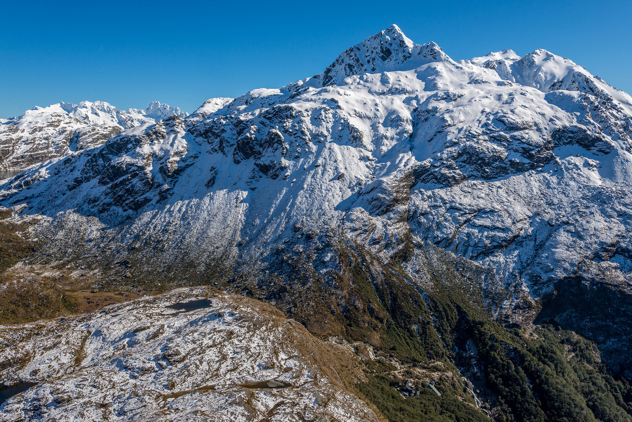 Routeburn Falls Hut and Mount Xenicus
