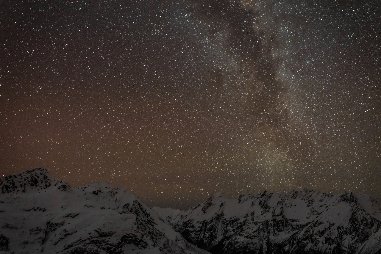 The Milky Way above Mount Xenicus, Somnus and Momus