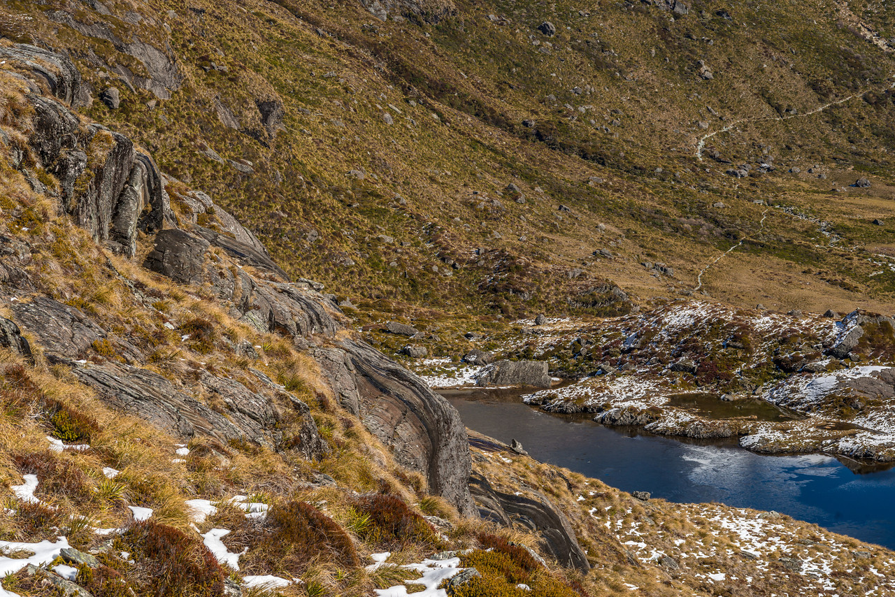 Rock formations above the Routeburn Track