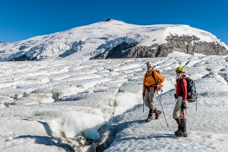 On the Upper Volta Glacier. Glacier Dome is in the background.
