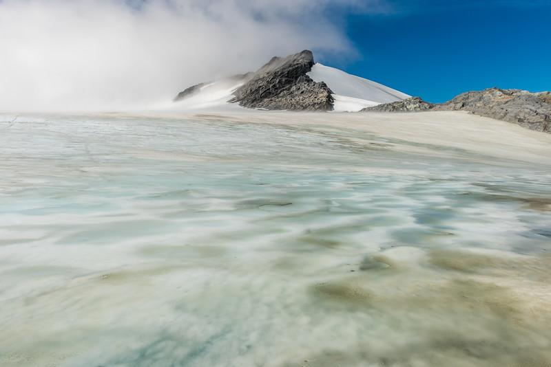 Upper Volta Glacier slushy