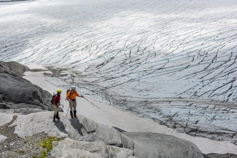 On the lwoer slopes of Fastness Peak, above the Upper Volta Glacier.