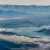 Lake Wanaka from Fog Peak. Wanaka is at centre image