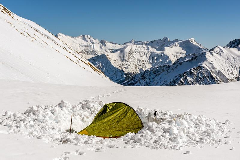 Campsite under Fog Peak