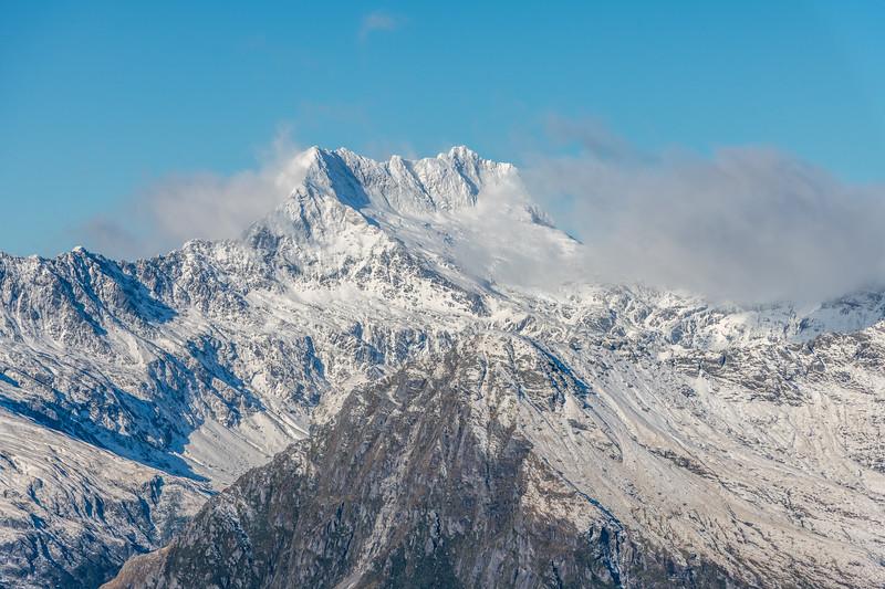 Mount Alba from Pt 1643m, Haast Range.