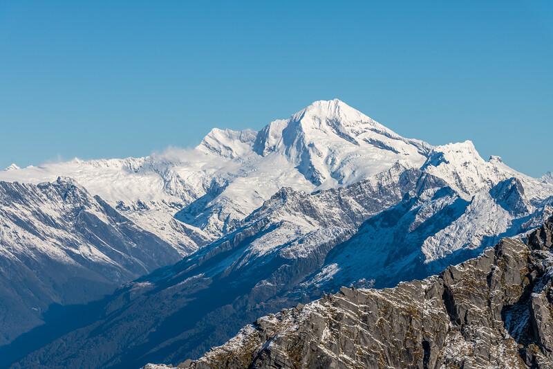 Mount Aspiring / Tititea from Pt 1643m, Haast Range.