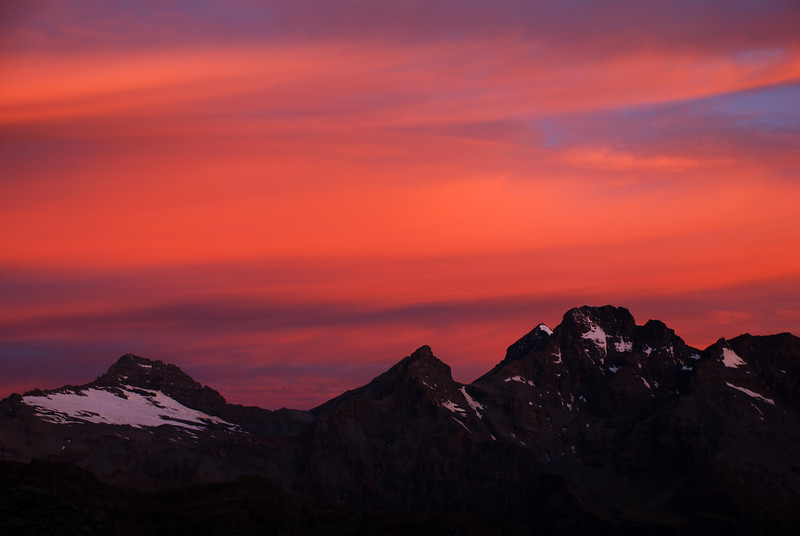The Forbes Mountains at sunset