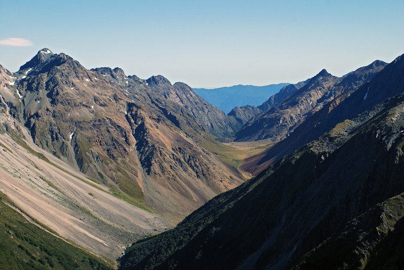The Bryneira Range and Cow Saddle from the ridge south of Park Pass