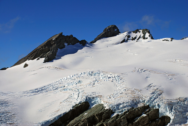 Poseidon Peak from the north ridge of Amphion Peak