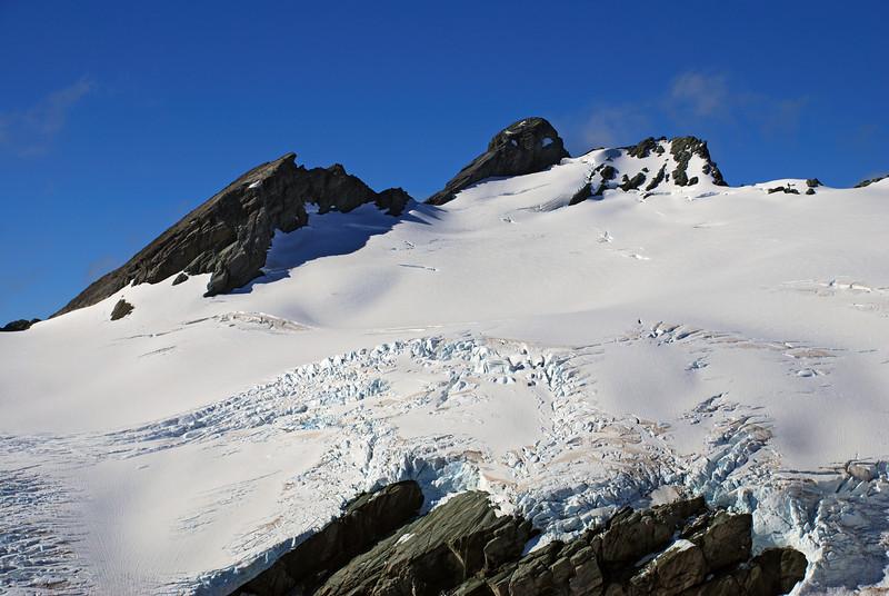 Poseidon Peak from the north ridge of Amphion Peak
