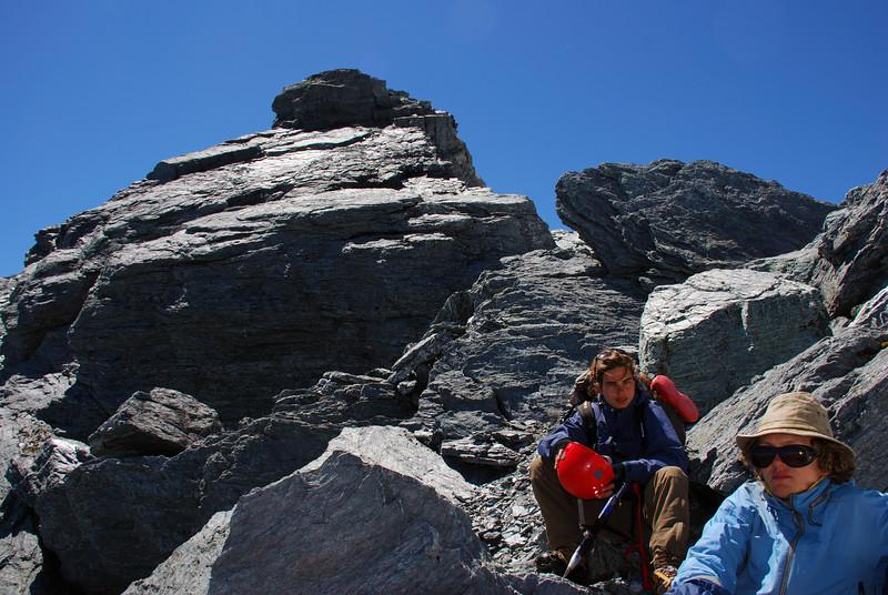 At the toe of Poseidon's south west ridge