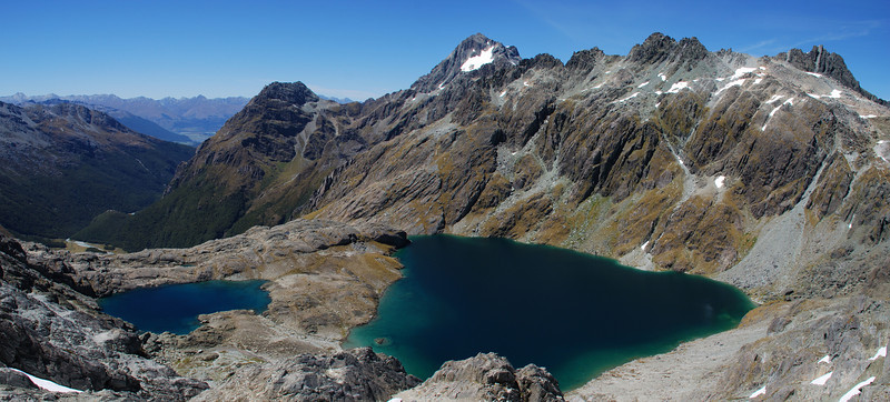 Stunning views from unnamed peak 1740m. Lake Nerine, Somnus and Nereus Peak.