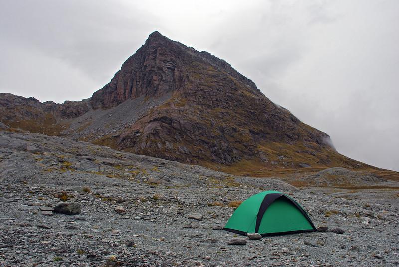 Campsite under Minos Peak