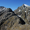 On the Serpentine Range. From left to right are unnamed peak 1796m, North Col and Nereus Peak