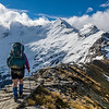 Walking the 'Mount Earnslaw Highway' on Lennox Pass
