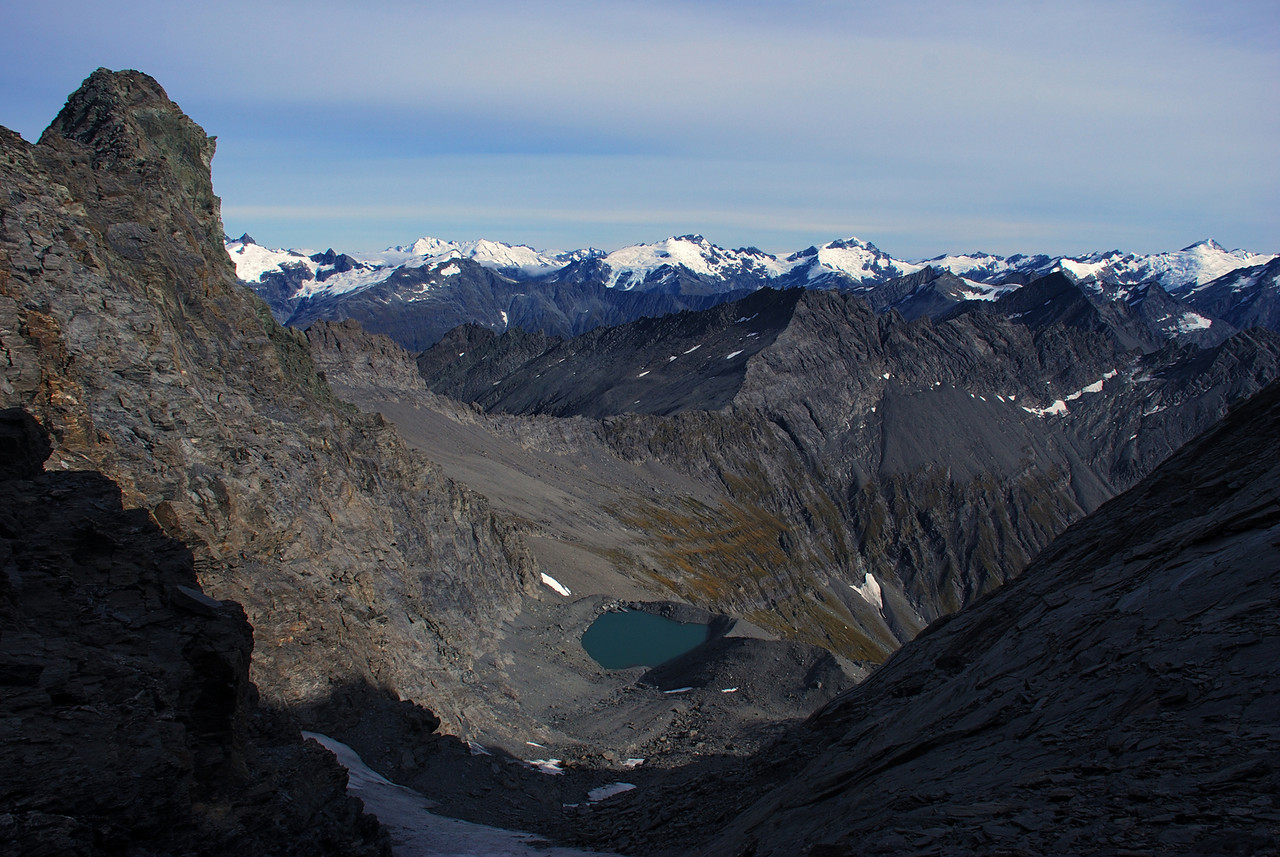 View from the saddle between the Middle and West Centaur Peaks