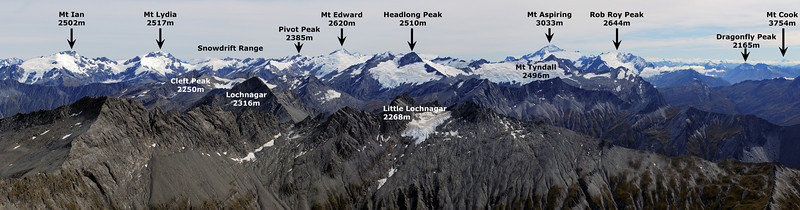 Panorama from the West Centaur Peak