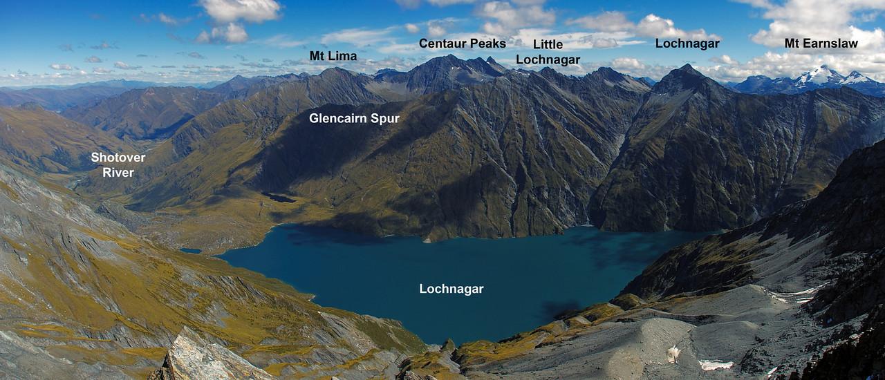 View from unnamed peak 2182m north of Lochnagar.