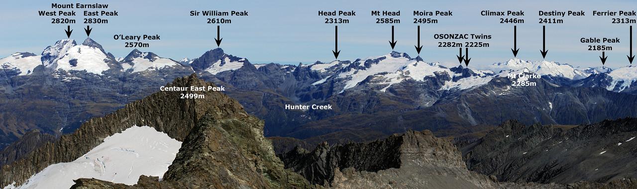 Panorama from the West Centaur Peak