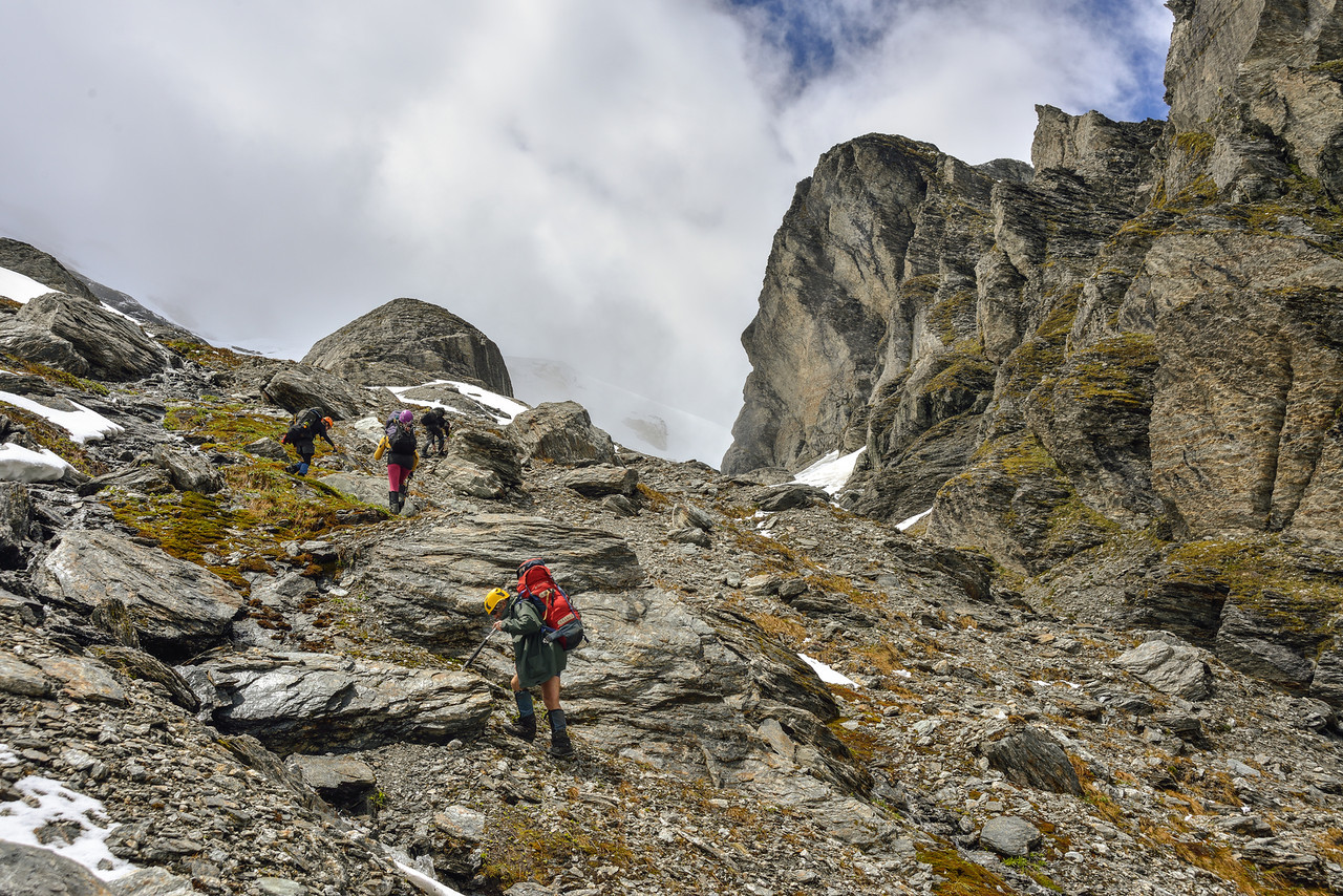 En route to O'Leary Pass
