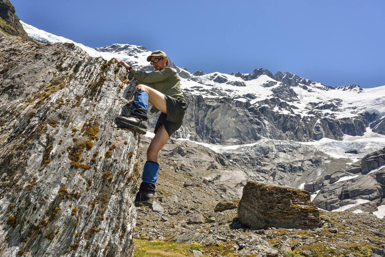 Bouldering at the head of the Blue Duck River