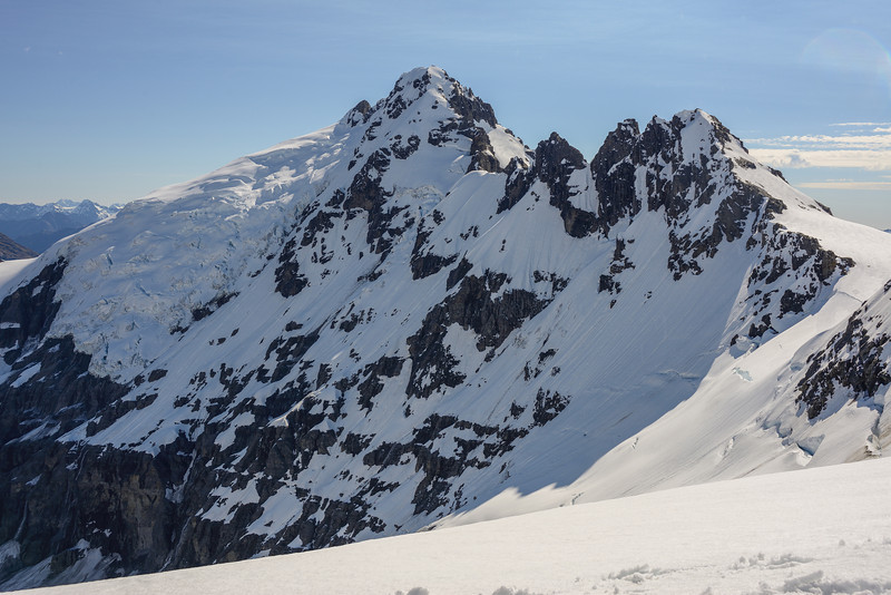 Hamilton Glacier, Mount Ian and Mount Tiber from Key Dome