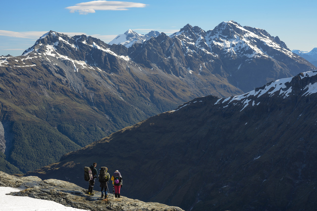 On Key Dome, looking across the Dart River to the Forbes Mountains