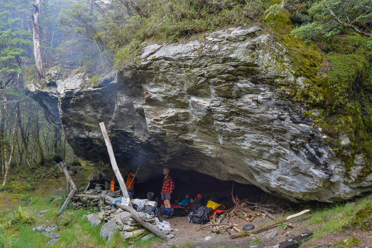 The rock bivvy at Cattle Flat, Dart Valley
