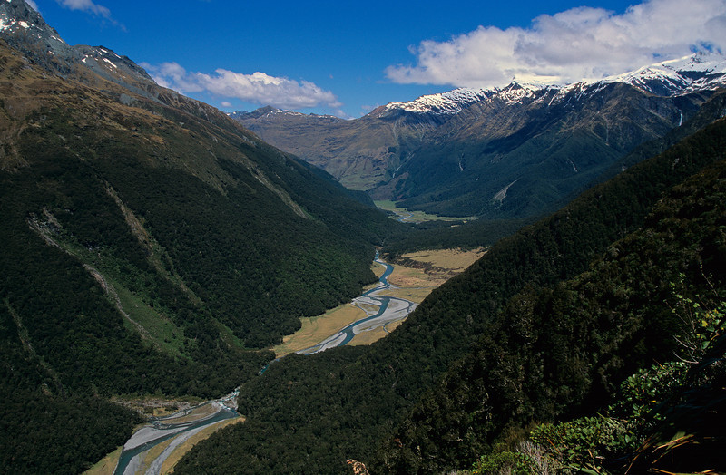 Looking into the West Matukituki from Liverpool Hut