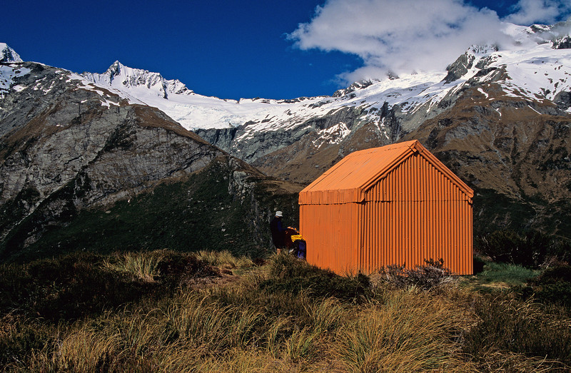 Liverpool Hut, Mt Avalanche in the background