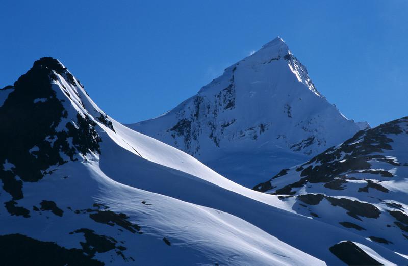 Mt Bevan and Mt Aspiring from Matukituki Saddle