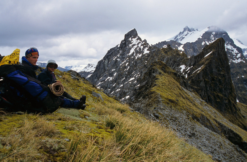 On Waipara Saddle. Bow Peak at centre image