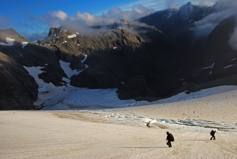 On the Merkl Glacier at the head of teh Beans Burn