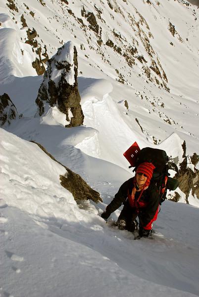 On the south ridge of Mount Alta.