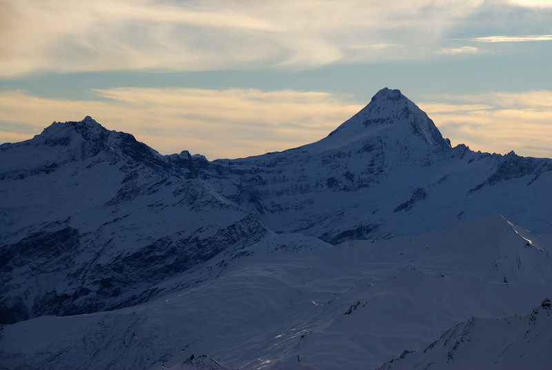 Mount Avalanche and Mount Aspiring from Mount Alta