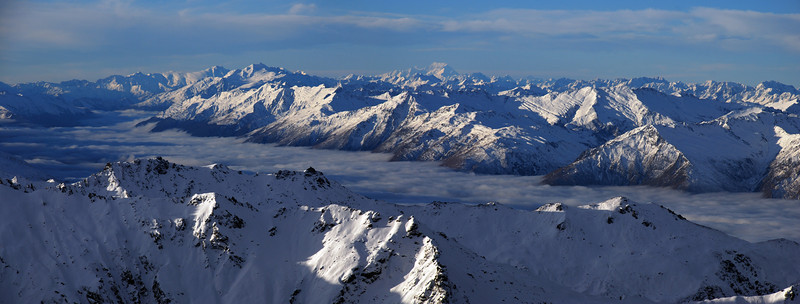 View from Mount Alta: Makarora Valley and Mount Cook