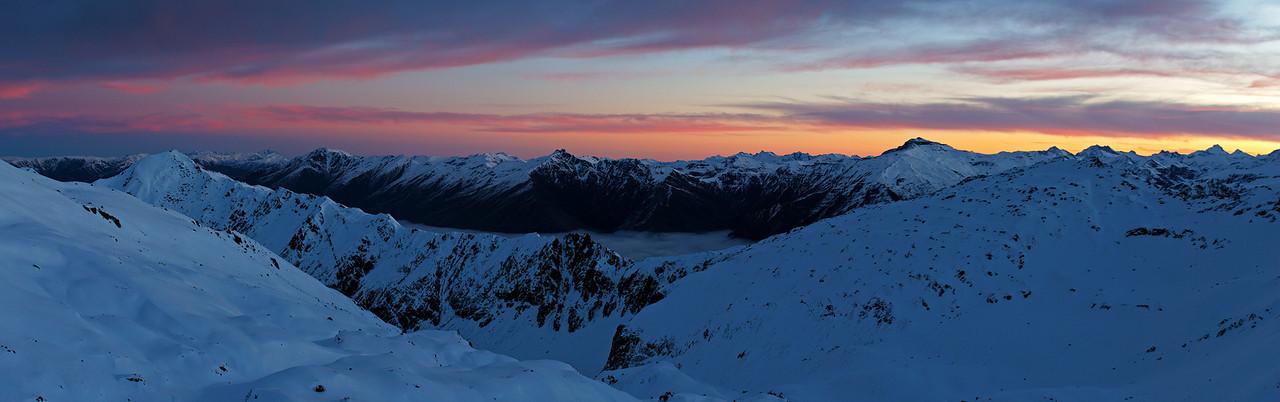 Last day-light on Mount Alta